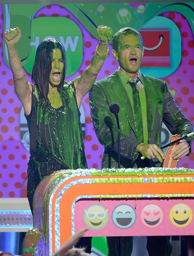 Sandra Bullock & Neil Patrick Harris -  The actress powered through the sliming in 2013.