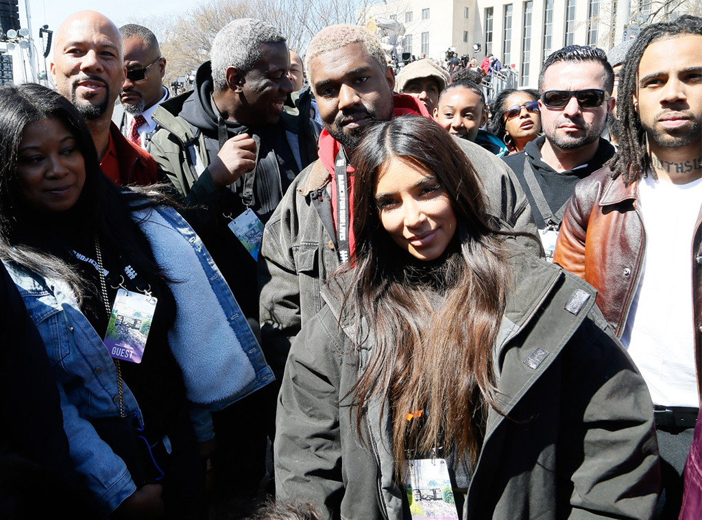 Kim Kardashian, Kanye West, March For Our Lives, 2018