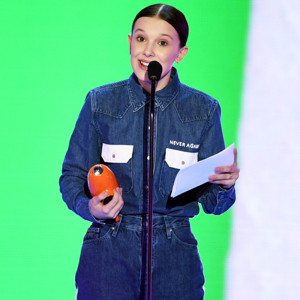 Millie Bobby Brown, Nickelodeon Kids' Choice Awards 2018, Winners