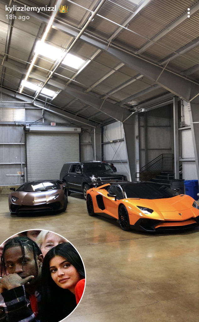 Kylie jenner shows off more new cars after revealing push for Garage auto orange