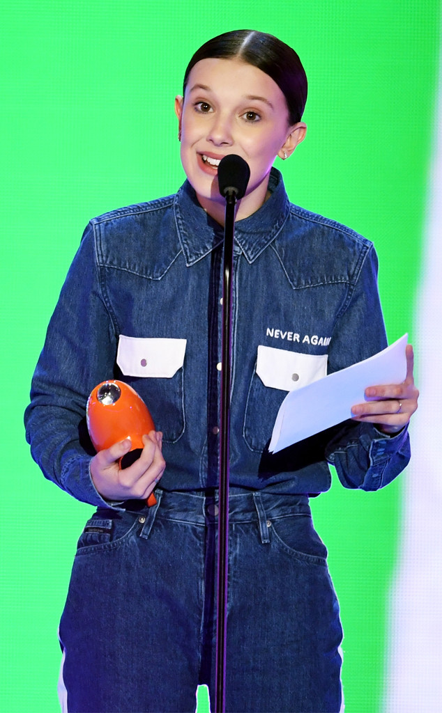Millie Bobby Brown, Nickelodeon Kids' Choice Awards 2018, Winners