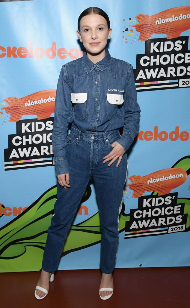 Millie Bobby Brown, Nickelodeon Kids Choice Awards 2018
