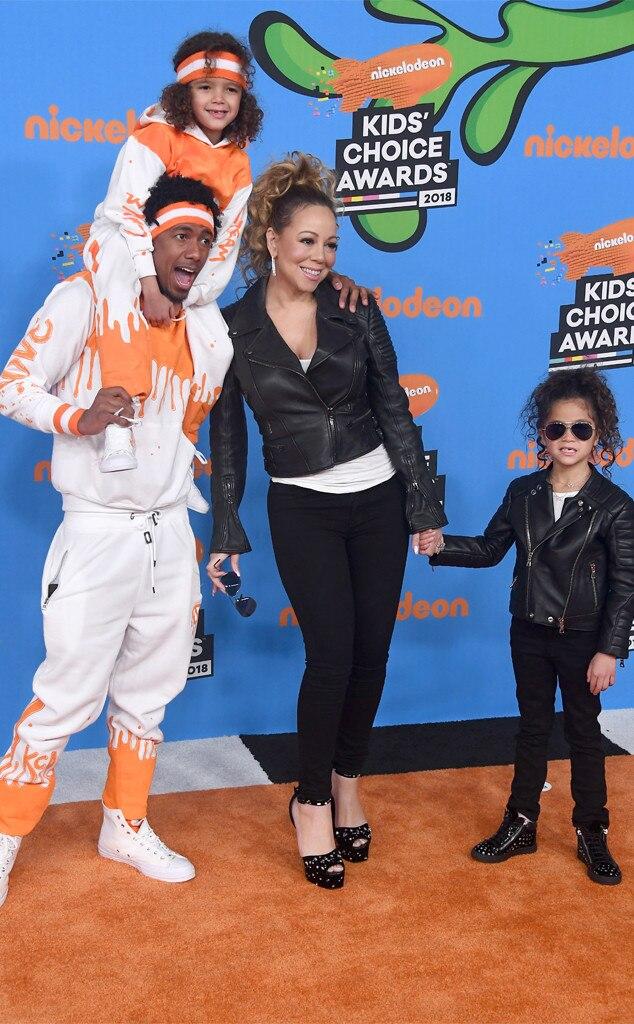 Moroccan Scott Cannon, Nick Cannon, Mariah Carey, Monroe Cannon, Nickelodeon Kids Choice Awards 2018