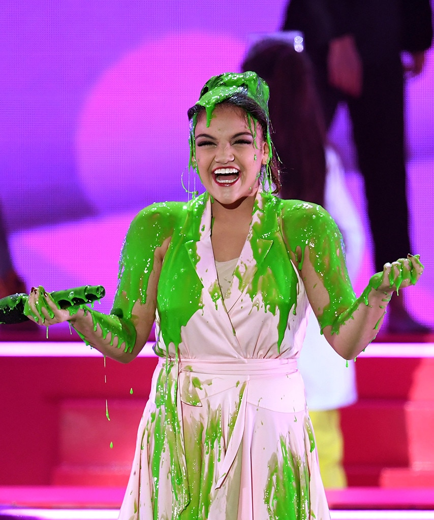 Laurie Hernandez -  The Olympic gymnast get slimed at the 2018 awards!