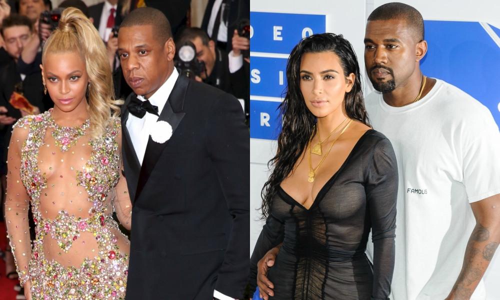 Beyonce, Jay Z, Kim Kardashian, Kanye West