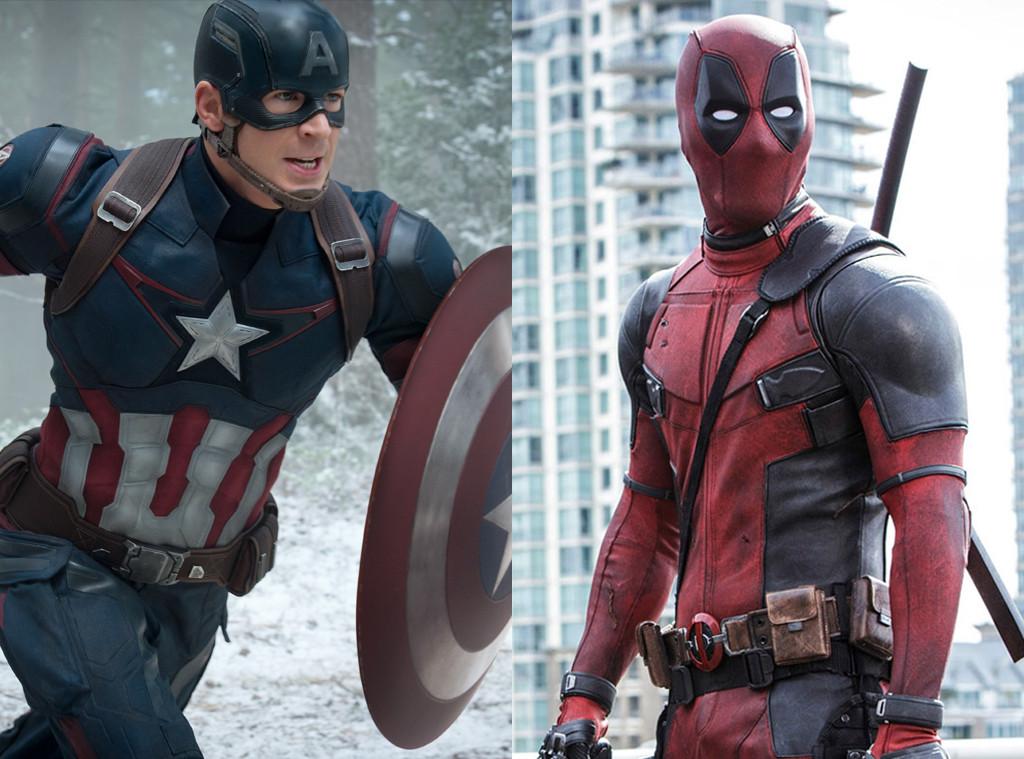 Captain America, Chris Evans, Deadpool, Ryan Reynolds