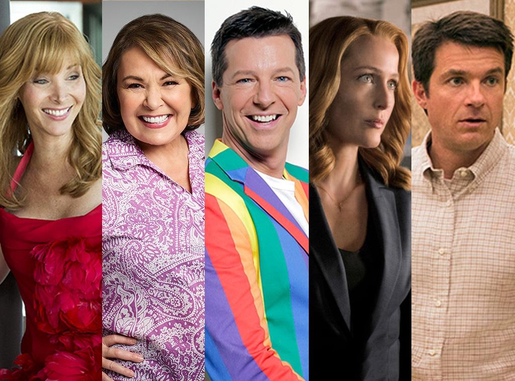 TV Revivals split, Lisa Kudrow, Roseanne Barr, Sean Hayes, Gillian Anderson, Jason Bateman