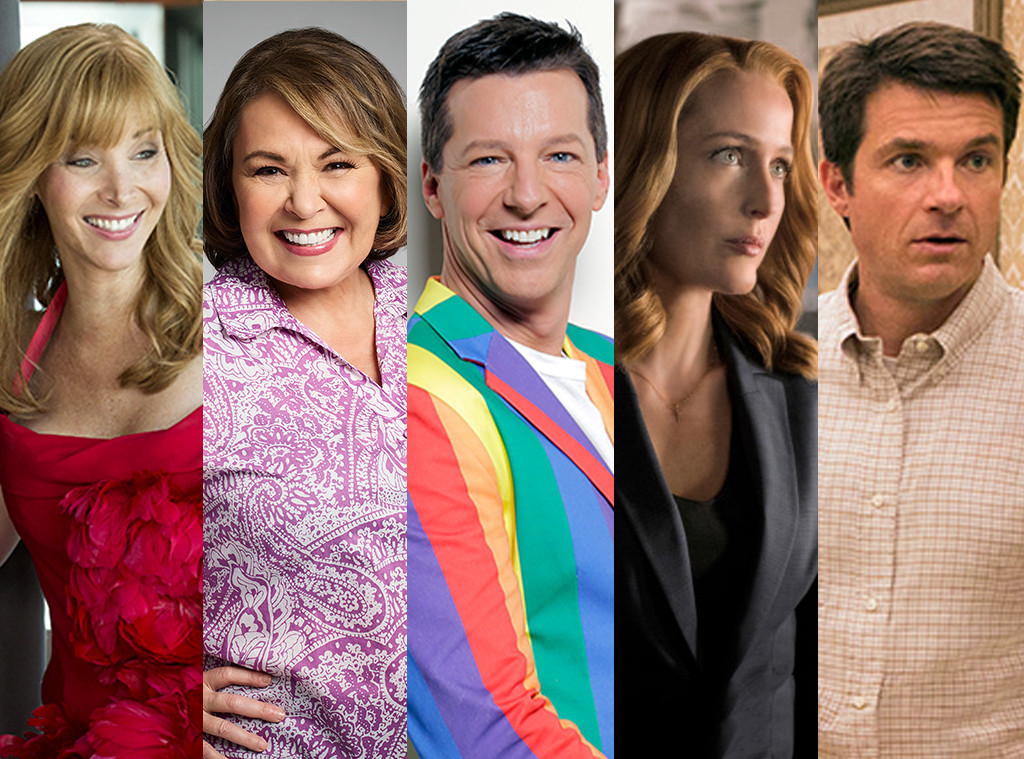 TV Revivals split, Lisa Kudrow, Roseanne Barr, Sean Hayes, Gillian Anderson, Jason Bateman