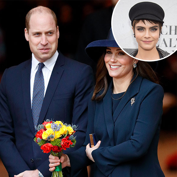 Prince William, Kate Middleton, Cara Delevingne