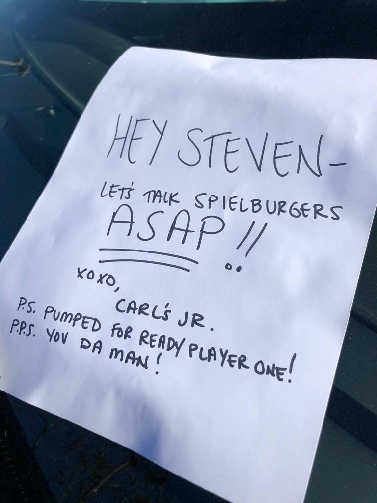 Carl's Jr., Steven Spielberg, Twitter