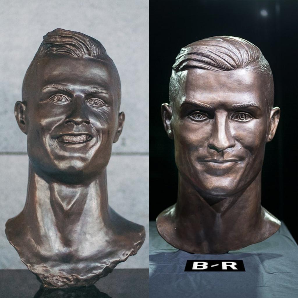 Cristiano Ronaldo, escultura