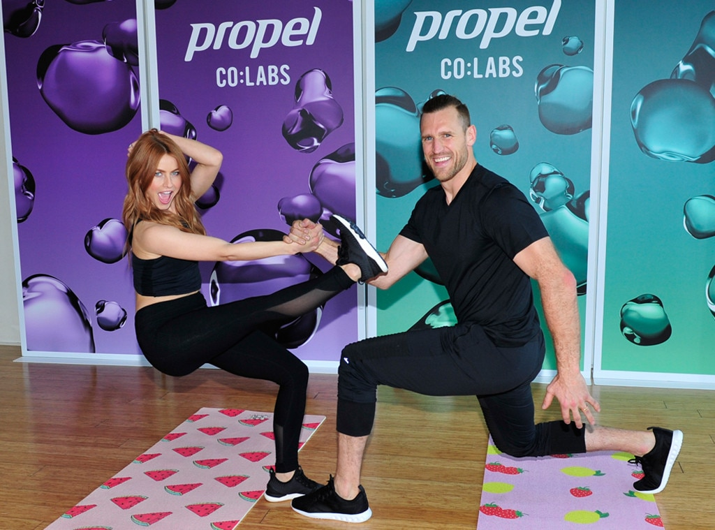 Julianne Hough & Brooks Laich -  The  Dancing With the Stars  judge and NHL player join Propel for a workout in Los Angeles.