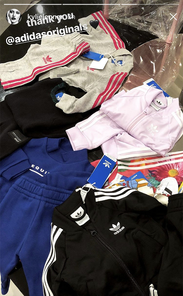 Kylie Jenner, Adidas Tracksuits, Baby, Stormi