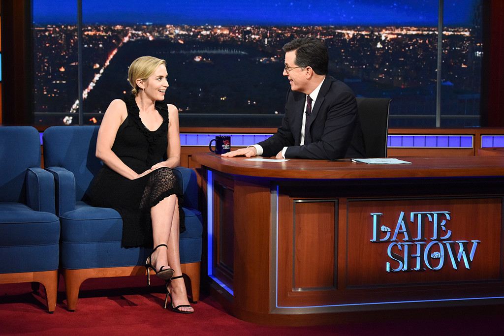 Emily Blunt, The Late Show With Stephen Colbert