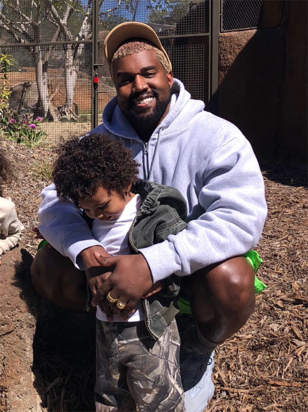 Kim Kardashian Shares the Cutest Father-Son Photo of Kanye West and Saint