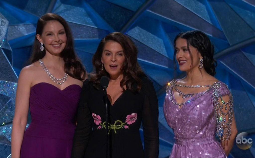 Ashley Judd, Annabella Sciorra, Salma Hayek, 2018 Oscars