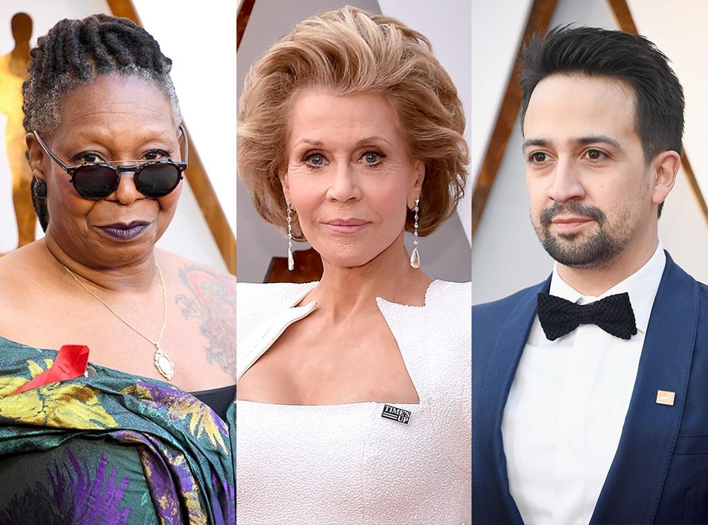 Whoopi Goldberg, Jane Fonda, Lin-Manuel Miranda