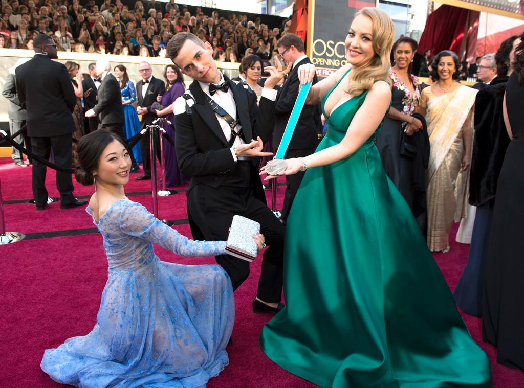 Mirai Magasu, Adam Rippon, Wendi McLendon-Covey, 2018 Oscars, Candids