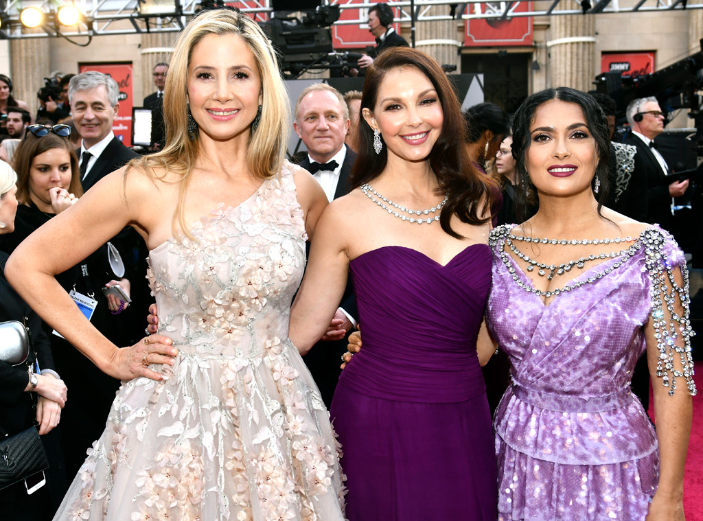 Mira Sorvino, Ashley Judd, Salma Hayek, 2018 Oscars, Candids