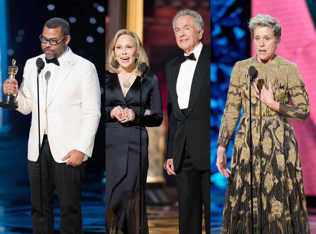 Jordan Peele, Faye Dunaway, Warren Beatty, Frances McDormand, 2018 Oscars