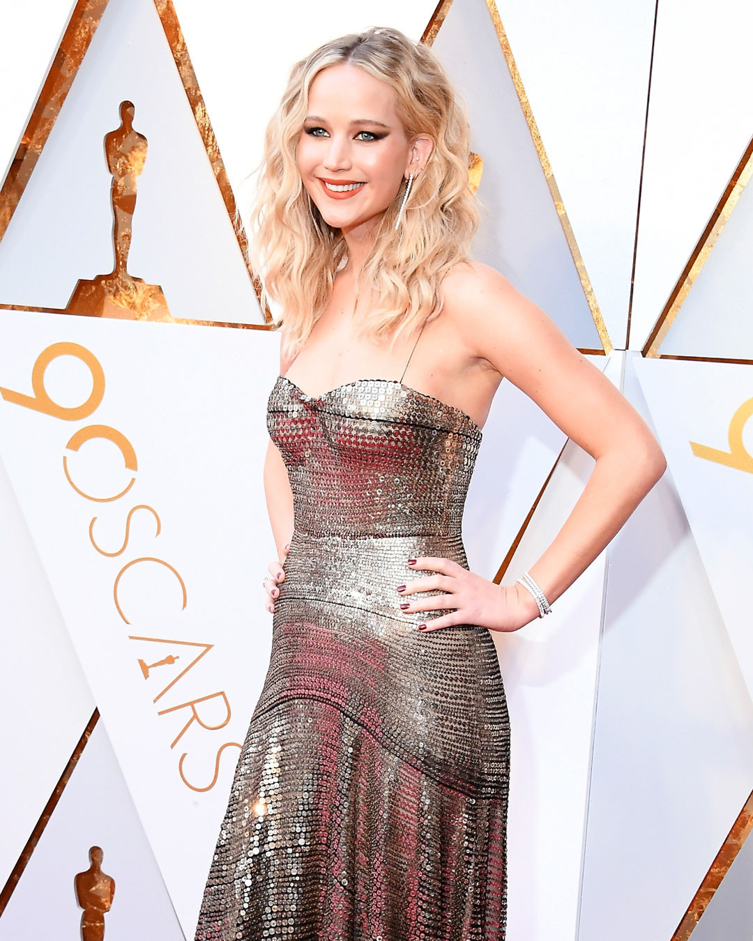 jennifer lawrence channels a fashion warrior at the 2018 oscars | e