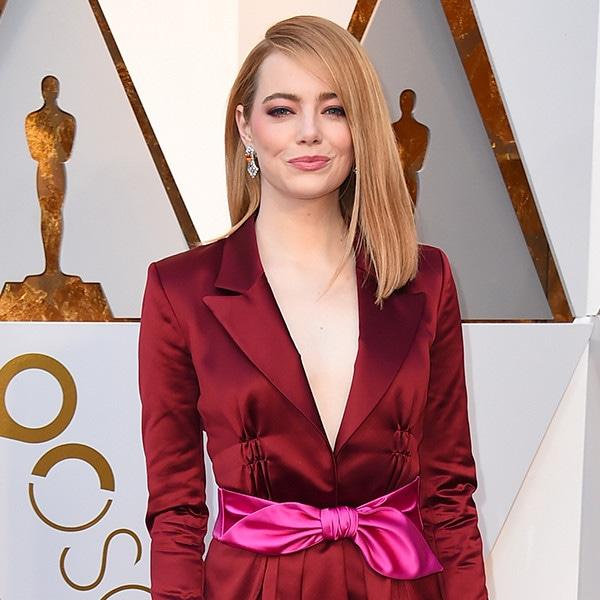 Emma Stone, 2018 Oscars, Red Carpet Fashions