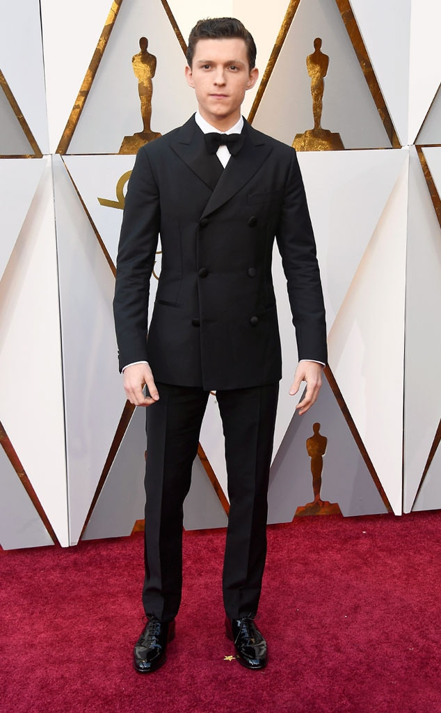 Tom Holland From 2018 Oscars Red Carpet Fashion E News