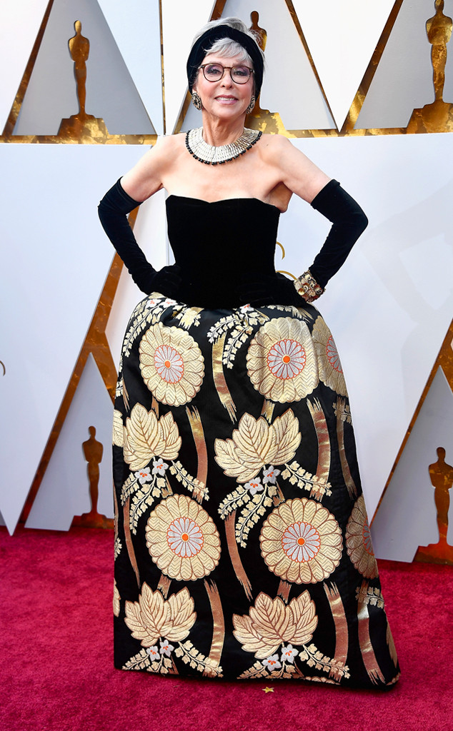 Rita Moreno, 2018 Oscars, Red Carpet Fashions