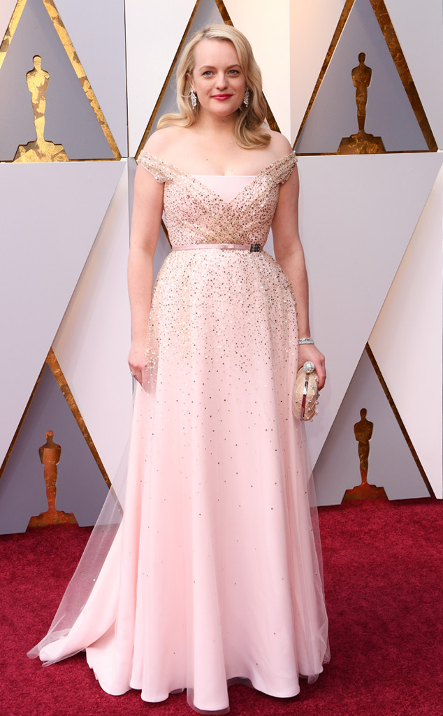Elisabeth Moss, 2018 Oscars, Red Carpet Fashions