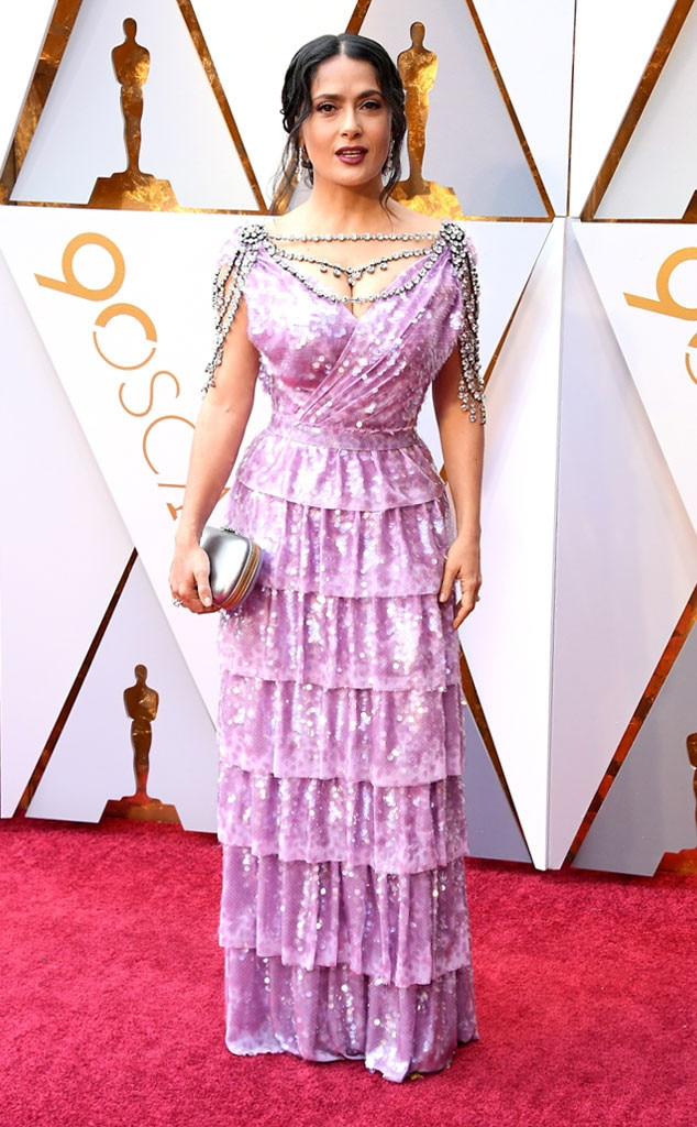 Salma Hayek, 2018 Oscars, Red Carpet Fashions