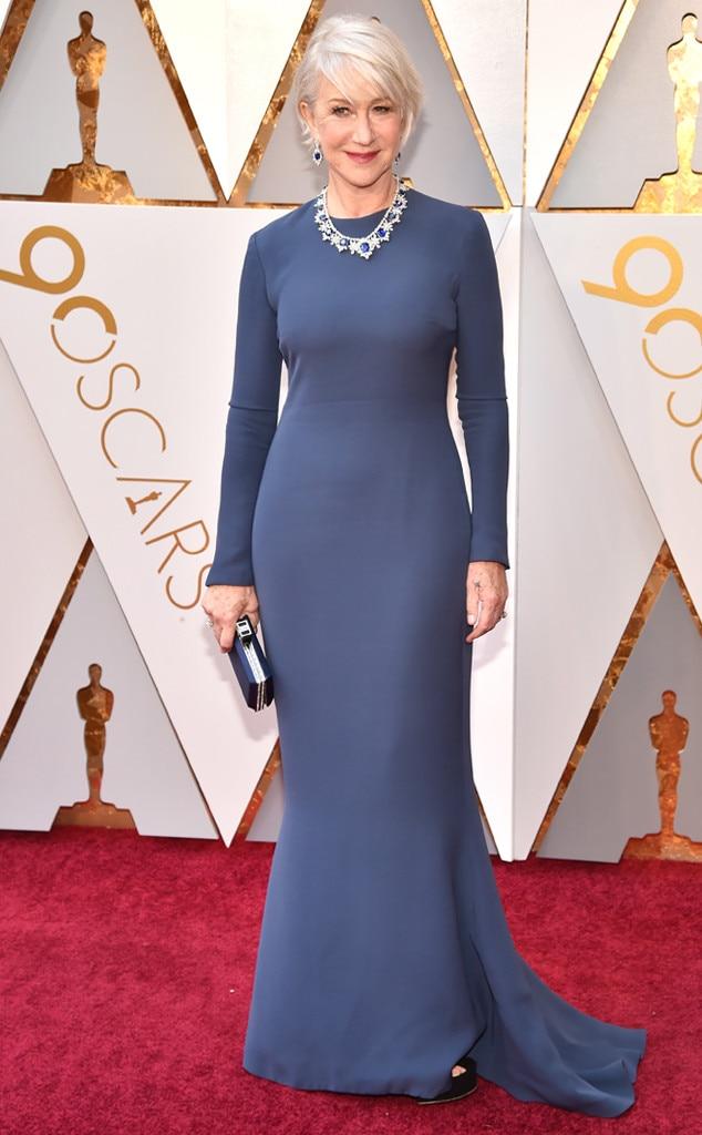 Helen Mirren, 2018 Oscars, Red Carpet Fashions