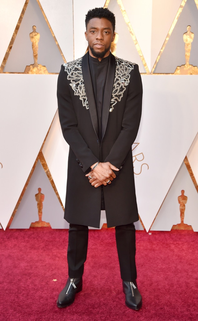 Chadwick Boseman's Jacket Is King of the 2018 Oscars Red Carpet - E! Online