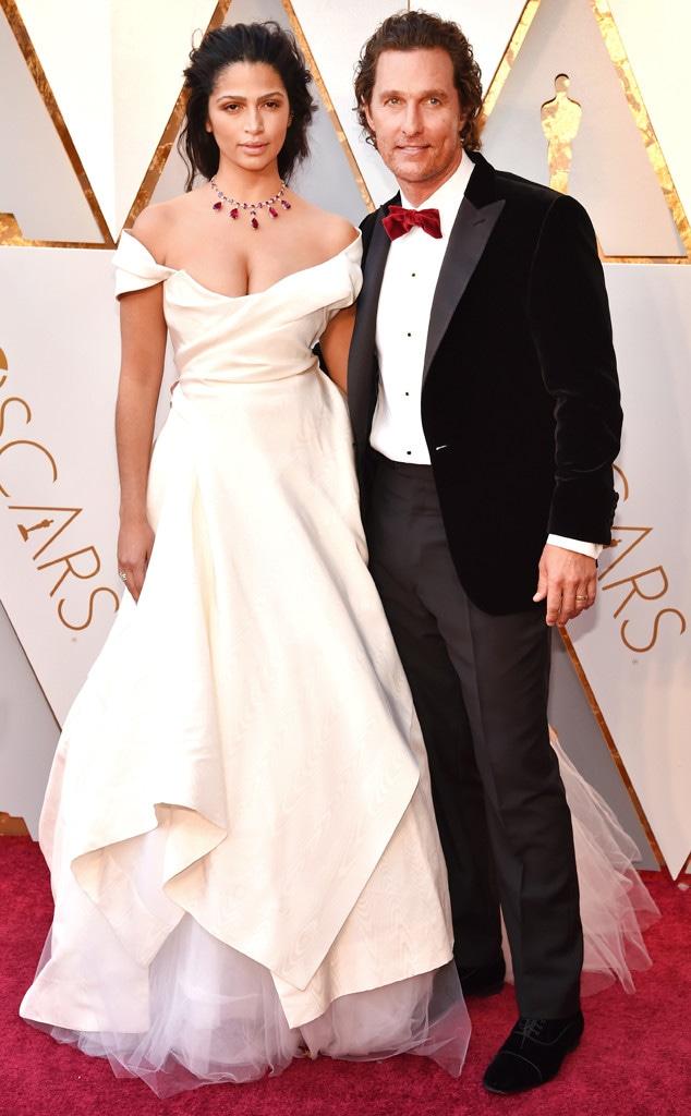 Camila Alves, Matthew McConaughey, 2018 Oscars, Couples