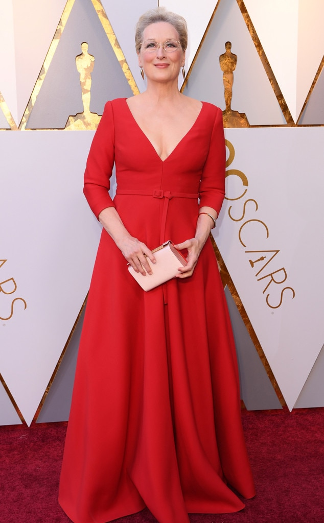Meryl Streep, 2018 Oscars, Red Carpet Fashions