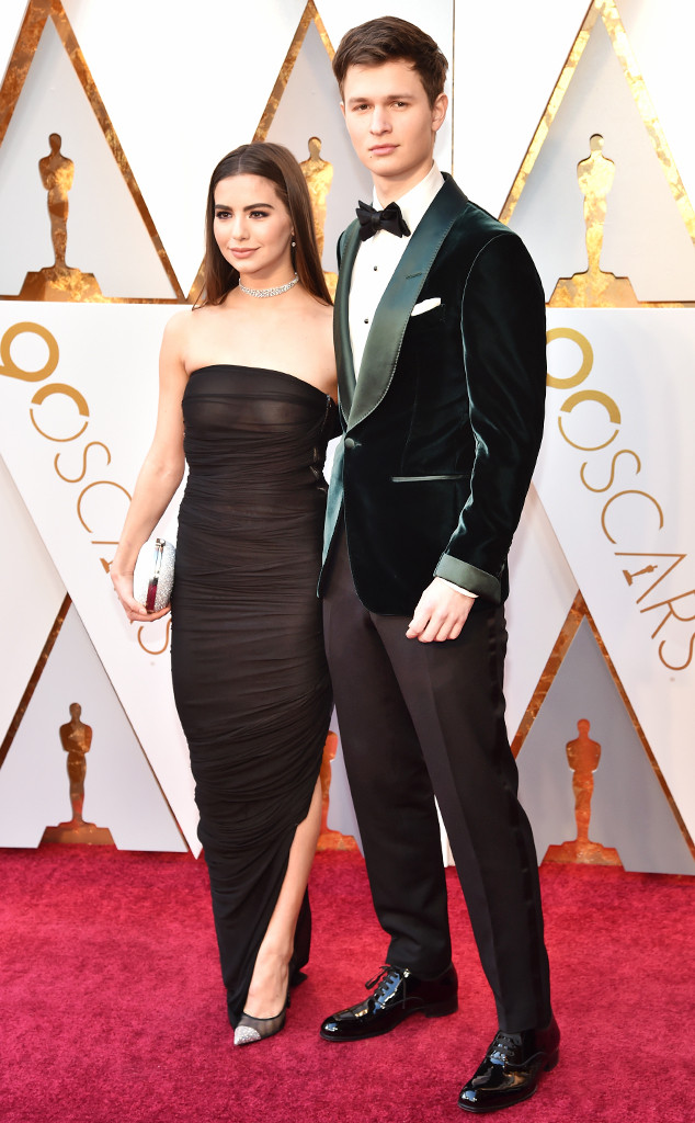 Ansel Elgort, Violetta Komyshan, 2018 Oscars, Couples