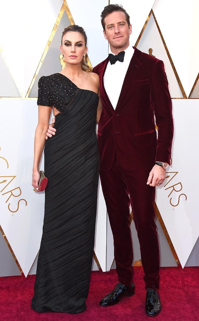 Elizabeth Chambers, Armie Hammer, 2018 Oscars, Couples