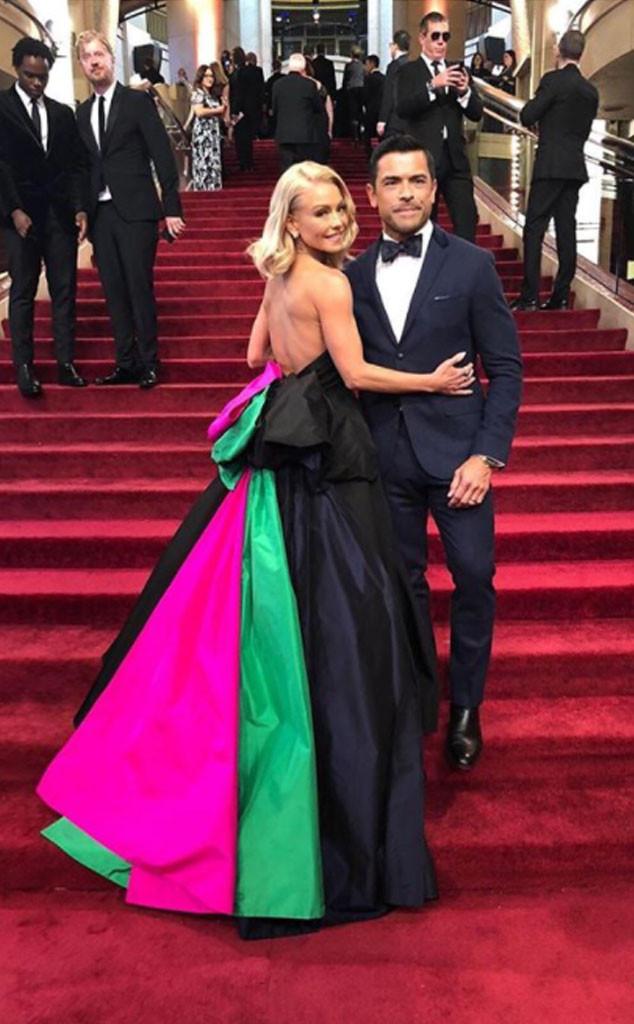 Kelly Ripa, Mark Consuelos, 2018 Oscars