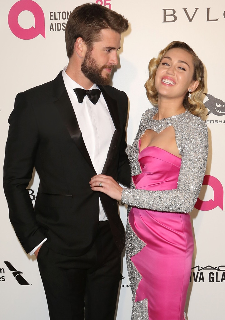 Liam Hemsworth & Miley Cyrus from Oscars 2018: Party Pics