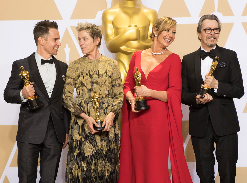 2018 Oscars, Sam Rockwell, Frances McDormand, Allison Janney, Gary Oldman