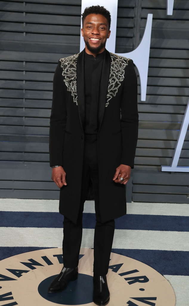 chadwick boseman from 2018 vanity fair oscars after party. Black Bedroom Furniture Sets. Home Design Ideas