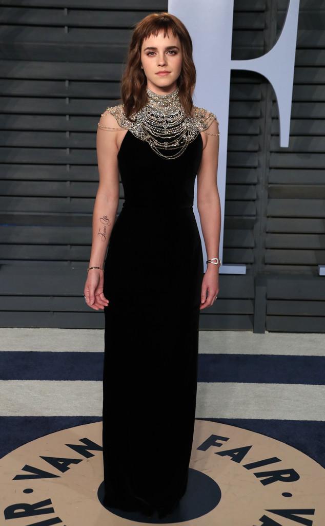 Emma Watson, Vanity Fair Oscar Party 2018