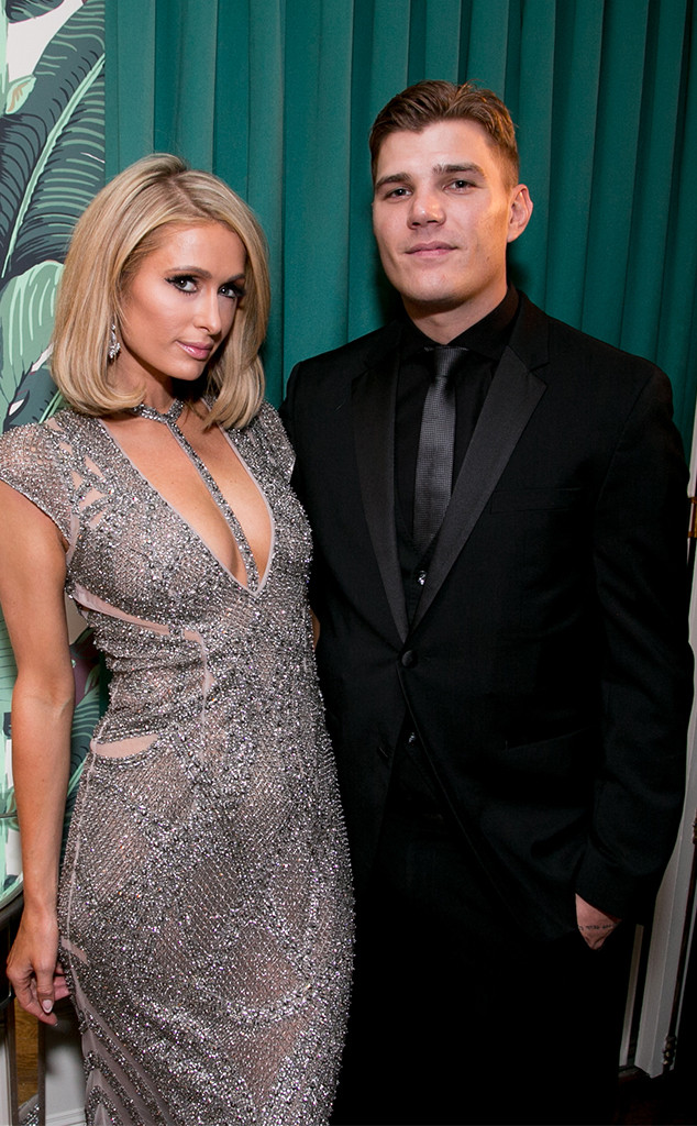 Paris Hilton, Chris Zylka, Treats! Annual Oscars Party