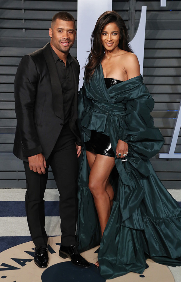 Russell Wilson, Ciara, Vanity Fair Oscar Party 2018