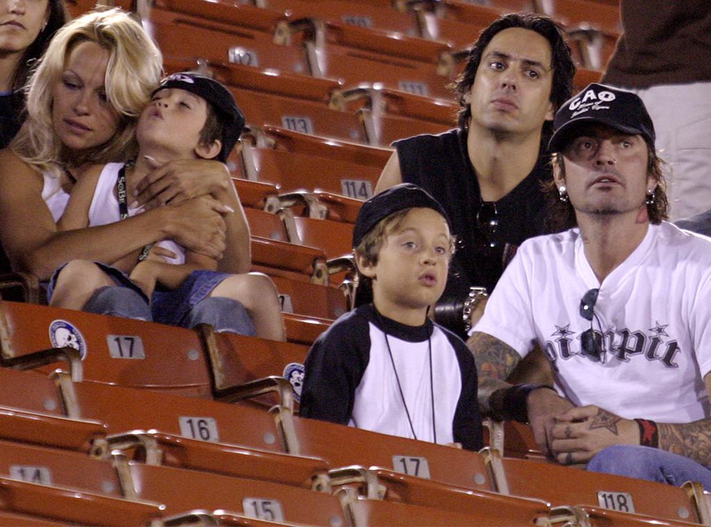 Pamela Anderson, Tommy Lee, Brandon Lee, Dylan Lee, 2003