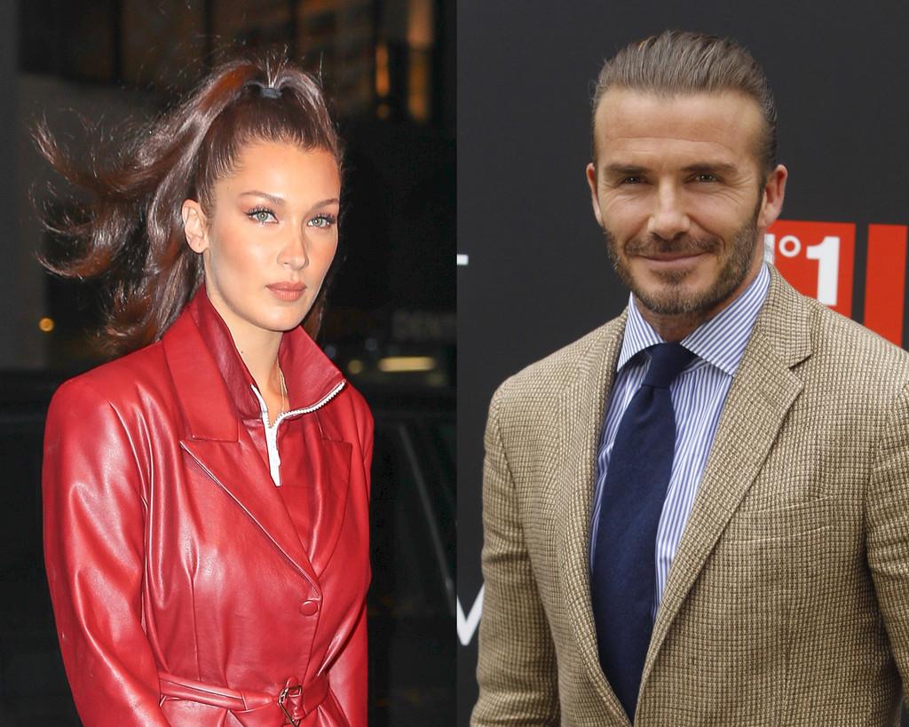 Bella Hadid, David Beckham