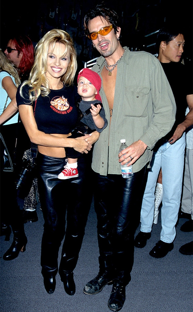 Pamela Anderson, Tommy Lee, Brandon Lee, 1997