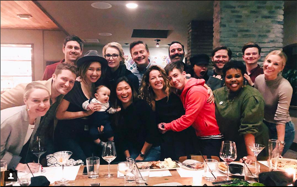 glee cast reunites�and meets matthew morrisons baby e