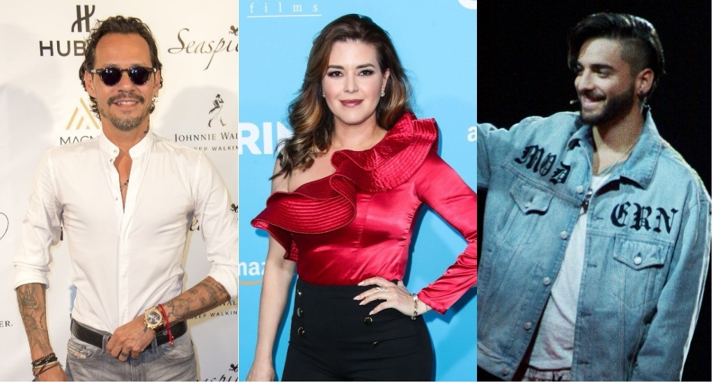 Marc Anthony, Alicia Machado, Maluma