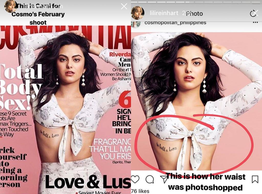 Lili Reinhardt, Cami Mendes, Photoshop, Cosmo