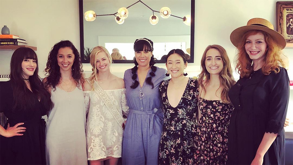 beth behrs bridal shower kat dennings